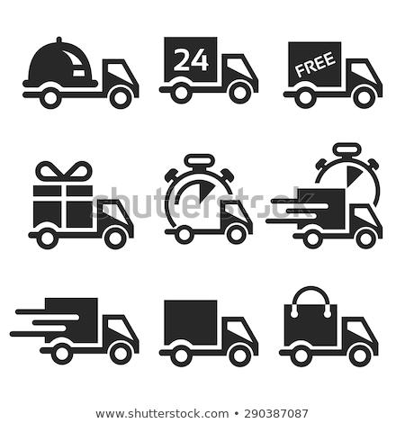 Ingyenes szállítás kék vektor ikon terv technológia Stock fotó © rizwanali3d