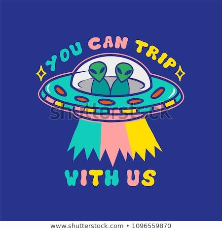 Drawn colored alien Stock photo © cherezoff