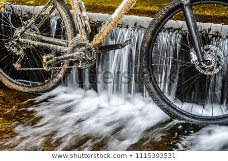 Rower łańcucha błoto wyścigu szczegół prędkości Zdjęcia stock © asturianu