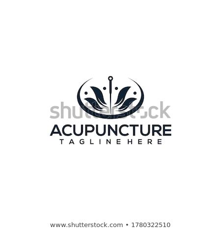 Agopuntura terapia illustrazione vettore formato Foto d'archivio © Slobelix
