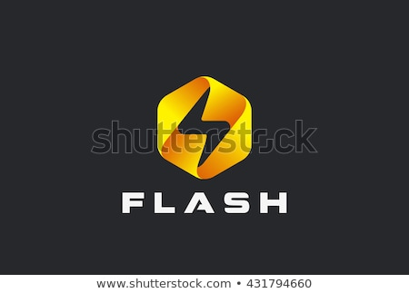 Resumen logo flash 3D sombra excelente Foto stock © netkov1