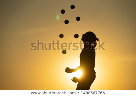 juggler at sunset Stock photo © adrenalina