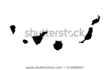 canárias · mapa · administrativo · cidade · silhueta · país - foto stock © rbiedermann