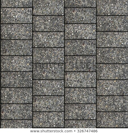 grainy gray pavement   rectangles arranged horizontally stock photo © tashatuvango