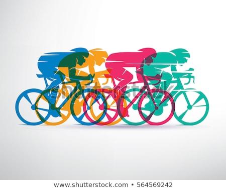 Carreras bicicleta ilustración rojo negro neumático Foto stock © Morphart