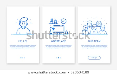 Felhasználó kék vektor ikon terv háló Stock fotó © rizwanali3d