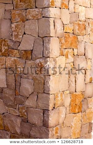 Kamień kamieniarstwo szczegół morze Śródziemne tekstury Zdjęcia stock © lunamarina
