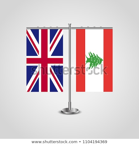 Reino Unido Líbano bandeiras quebra-cabeça isolado branco Foto stock © Istanbul2009
