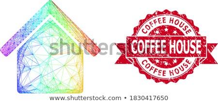 Modelo casas cores arco-íris colagem casa Foto stock © Paha_L