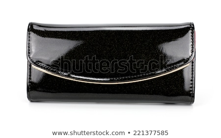 Womens Black Wallet isolated Stock photo © shutswis