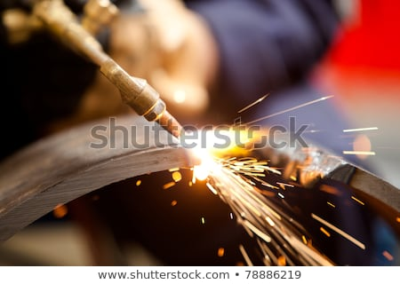 Foto stock: Alto · quente · aço · metal · planta