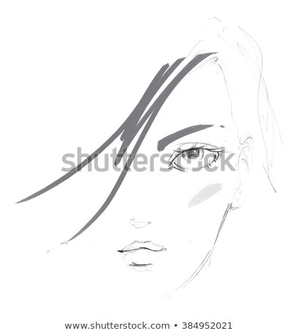Illustrazione donna capelli set Foto d'archivio © gigi_linquiet