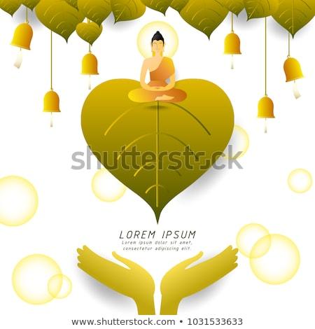 Sitting Buddha and buddhist bells Stock photo © timbrk
