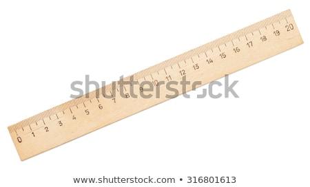 Wooden Ruler Isolated On White Background Stock Photo