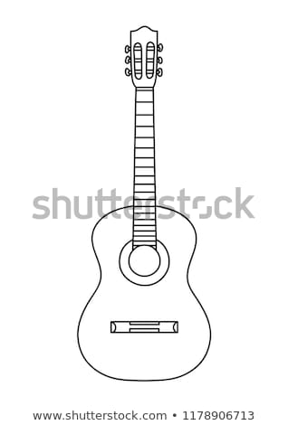 Acoustic guitar is simple colors Stock photo © shawlinmohd