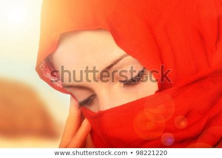 Young beautiful mysterious Muslim woman Stock photo © zurijeta