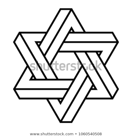 Silver hexagonal optical illusion  Stock photo © shawlinmohd