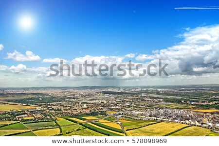 view of agricultural landscape with highway at vienna Stock photo © meinzahn