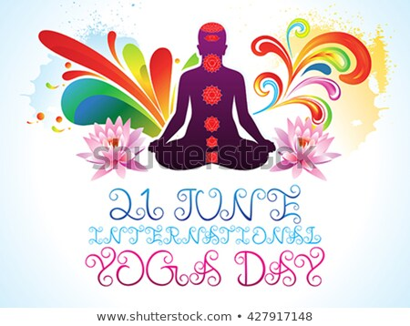 abstract colorful yoga day explode Stock photo © pathakdesigner