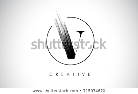 Stock photo: Logo Shapes and Icons of Letter V