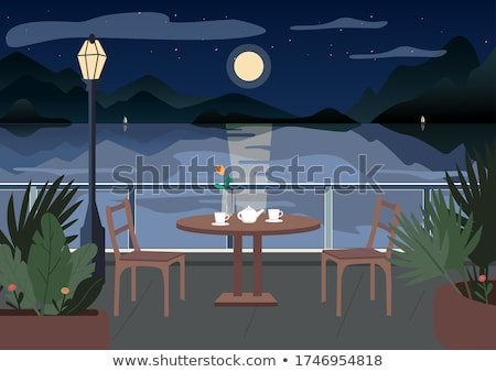 romantic dinner in the moonlight Stock photo © adrenalina