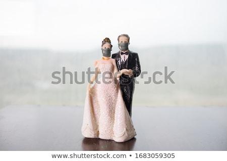 невеста цепь молодые студию романтика Сток-фото © deandrobot