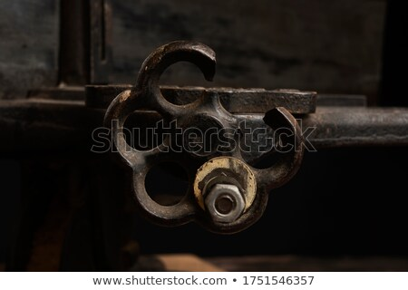detail of a crank in a carpenter workshop Stock photo © Giulio_Fornasar