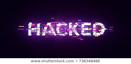 Bűnözés digitális hatás kapucnis személy táblagép Stock fotó © stevanovicigor
