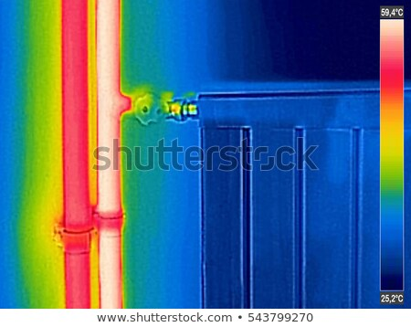Infrared Thermal Image of closed Radiator Heater in house Stock photo © smuki