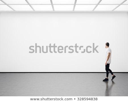 buio · galleria · dipinti · muro · di · mattoni · design · frame - foto d'archivio © sarts