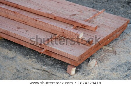 Stockfoto: Brown Painted Spruce Boards