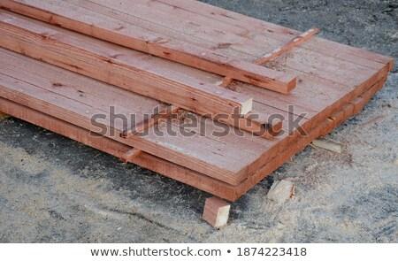 Brązowy malowany wystroić tekstury tabeli meble Zdjęcia stock © taviphoto