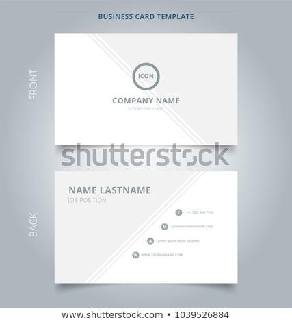 Twórczej minimalny wizytówkę szablon geometryczny line Zdjęcia stock © SArts