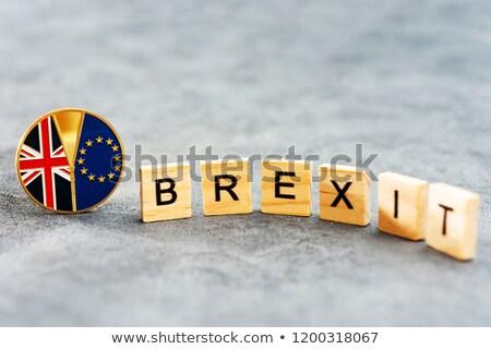 текста Великобритания Евросоюз флаг Финансы Европа Сток-фото © SArts