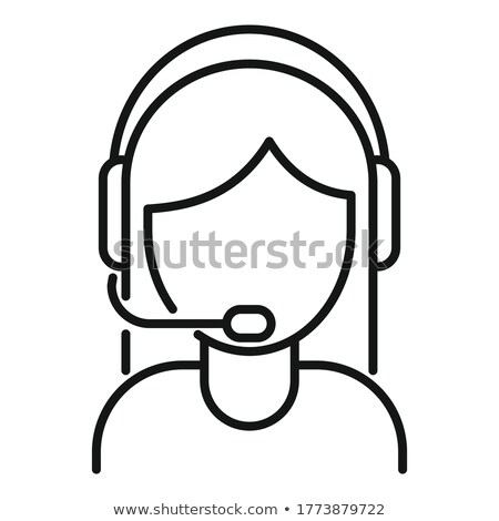 Stockfoto: Call · center · vrouw · icon · ontwerp · business · teken