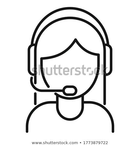 Call · Center · женщину · икона · дизайна · бизнеса · знак - Сток-фото © sdCrea