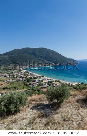 View from up of Vasiliki village at Lefkada - Summer coast Stock photo © ankarb