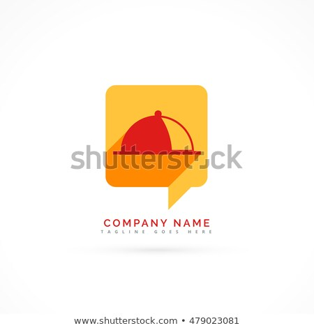 hotel logo showing food meal in a chat bubble Stock photo © SArts