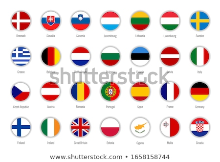Illustration of EU Flag and flag of Latvia, isolated white Stock photo © tussik