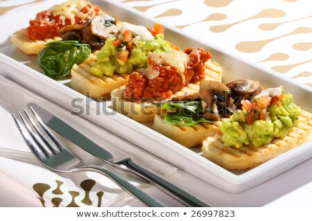 Plated Selection of Crostini Stock photo © monkey_business