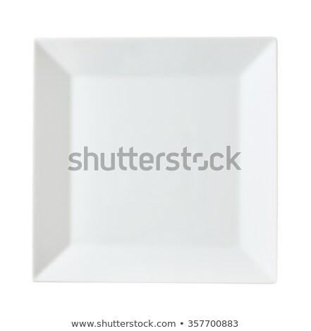 Square white platter Stock photo © Digifoodstock