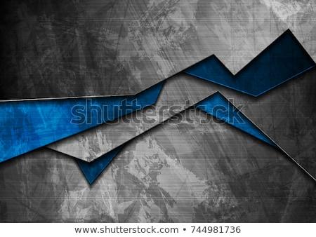 grunge material dark blue corporate background stock photo © saicle