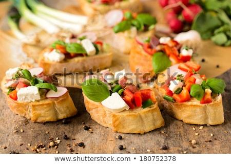 Croustillant baguette fromages tranches pain déjeuner Photo stock © Digifoodstock