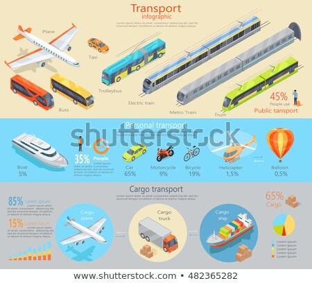 szállítás · gyűjtemény · poszter · autók · villamos · vonat - stock fotó © robuart