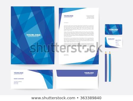 抽象的な 青 レターヘッド デザインテンプレート 印刷 企業 ストックフォト © SArts