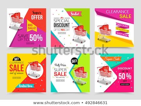 Verkoop promo banner reclame aankondiging pin Stockfoto © gomixer