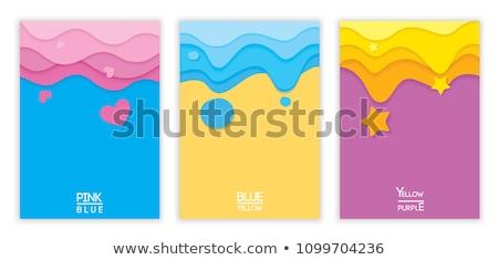 Ayarlamak arka dalgalar kum sarı soyut Stok fotoğraf © kup1984