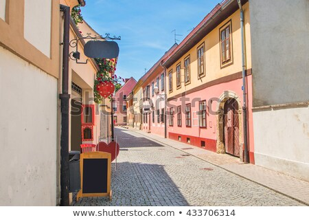 Renkli sokak barok kasaba görmek kuzey Stok fotoğraf © xbrchx