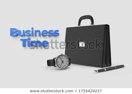Black Leather Briefcase Isolated Illustration Stock photo © robuart