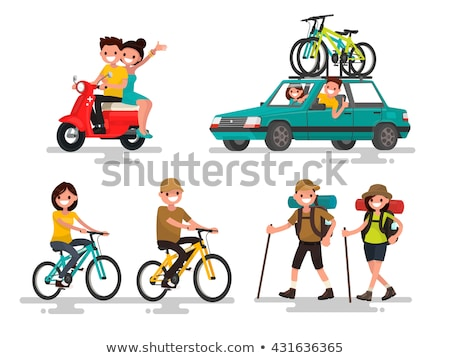 Dromen fiets vet persoon vergadering park Stockfoto © Fisher
